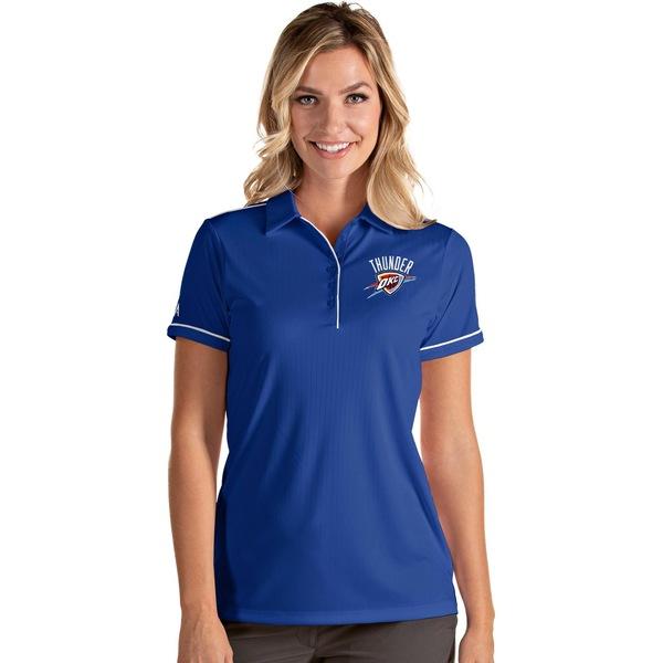 Antigua レディース トップス ポロシャツ 贈与 Blue White 全商品無料サイズ交換 アンティグア Salute 激安通販専門店 Women's Polo City Thunder Shirt Oklahoma