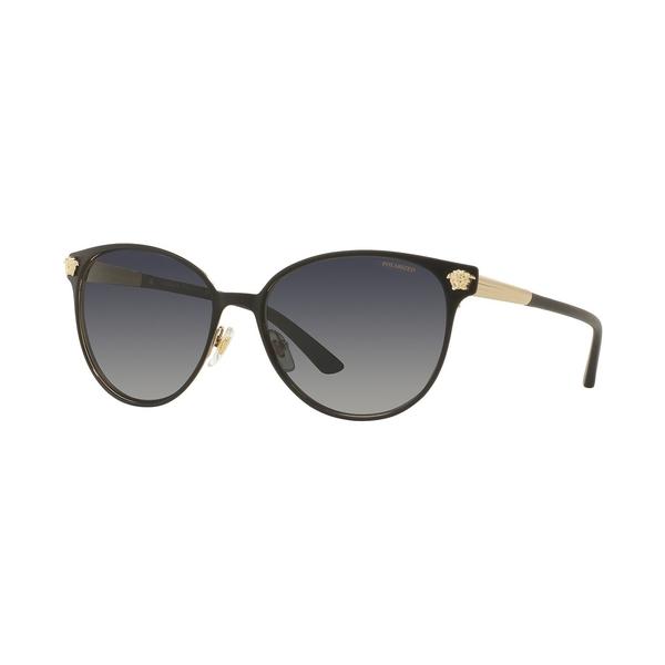 芸能人愛用 ヴェルサーチ レディース サングラス&アイウェア アクセサリー Polarized Sunglasses , Versace VE2168 BLACK/GREY POLAR, ソウマグン 120212b4