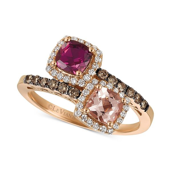 好評 ルヴァン レディース リング アクセサリー Multi-Gemstone (1 ct. t.w.) & Diamond (3/8 ct. t.w.) Ring in 14k Rose Gold Multi, やるCAN 08cb52f1