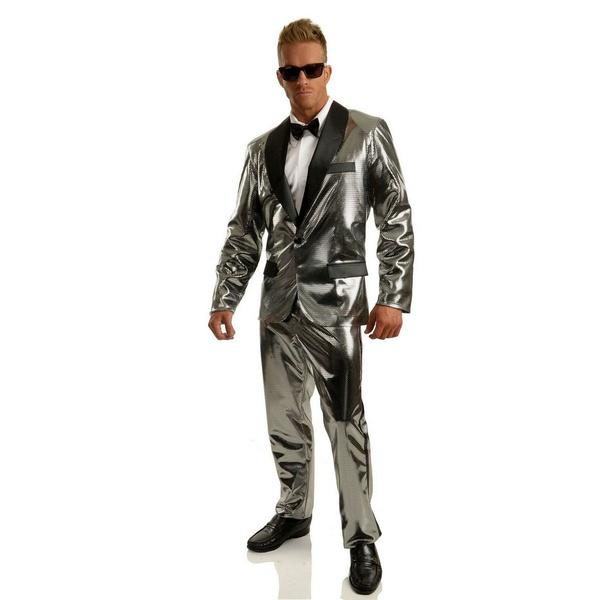 新しい到着 バイシーズンズ メンズ カジュアルパンツ ボトムス Men&39;s Disco Ball Silver Tuxedo Set With Pants Silver, サエダオンラインショップ fd742b1e