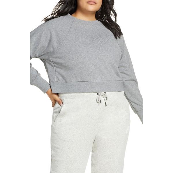 ナイキ レディース パーカー・スウェットシャツ アウター Nike Dri-FIT Crop Sweatshirt (Plus Size) Carbon Heather/ Black