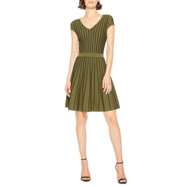 パーカー レディース ワンピース トップス Parker Flor Fit & Flare Knit Minidress Moss/ Black