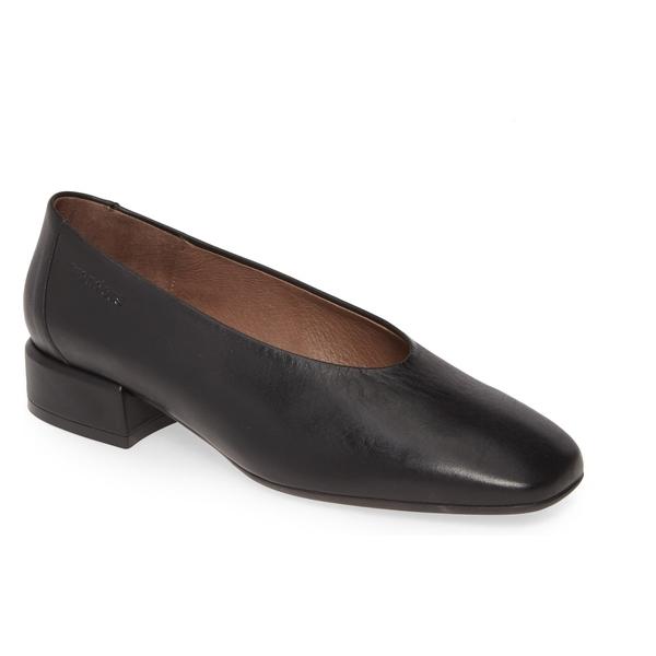ワンダーズ レディース サンダル シューズ Wonders C-5017-H Pump (Women) Black Smooth Leather