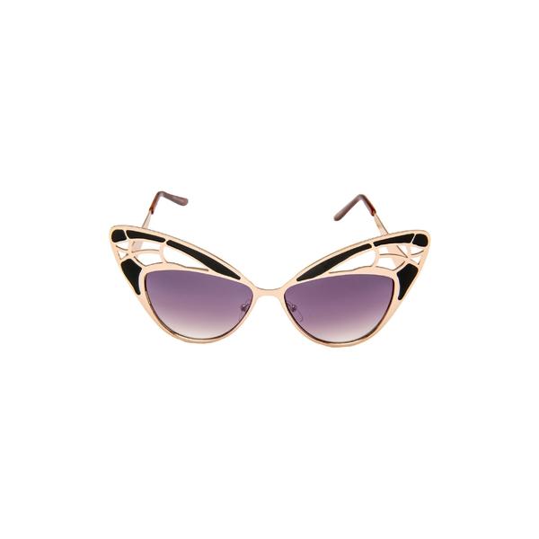 ラッドプラスリファインド レディース サングラス&アイウェア アクセサリー Rad + Refined Butterfly Sunglasses Black/ Nude