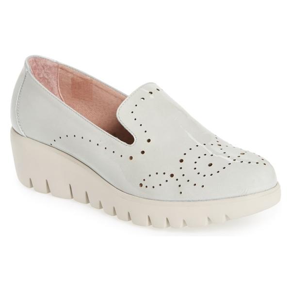 ワンダーズ レディース サンダル シューズ Wonders C-33114 Loafer Wedge (Women) Light Grey Leather