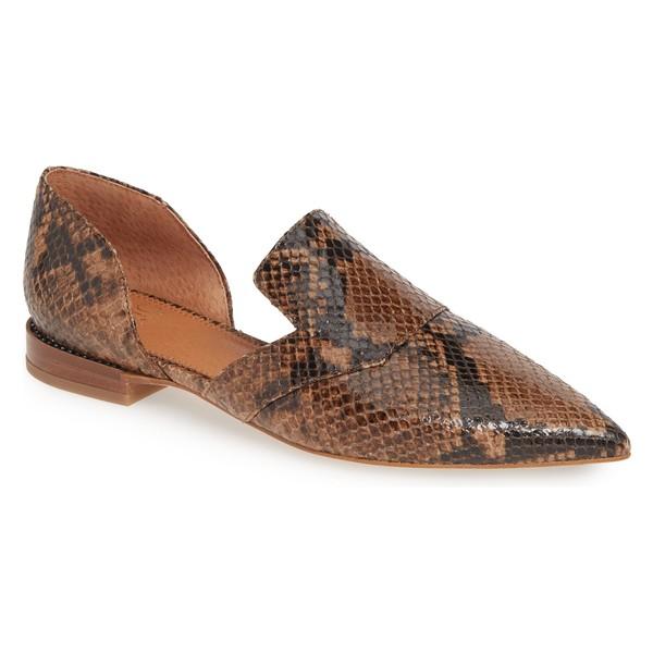サルトバイフランコサルト レディース サンダル シューズ SARTO by Franco Sarto Toby Flat (Women) Taupe Snake Print Leather