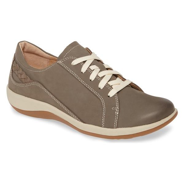 エイトレックス レディース サンダル シューズ Aetrex Dana Lace-Up Oxford Flat (Women) Warm Grey Leather