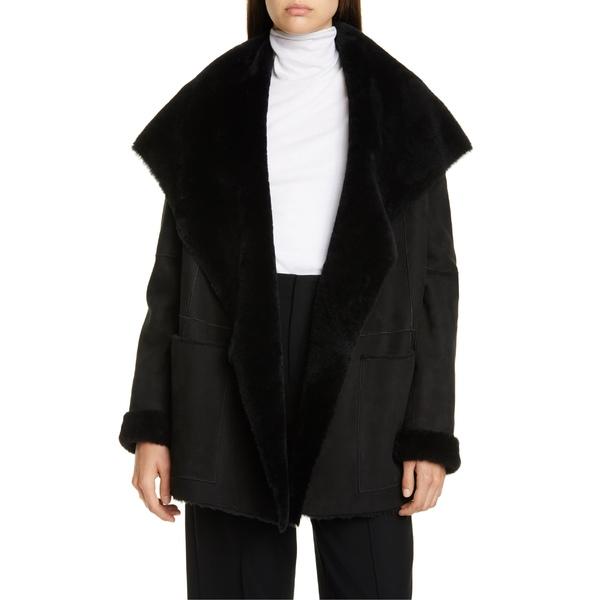 ヴィンス レディース ジャケット&ブルゾン アウター Vince Genuine Shearling Coat Black