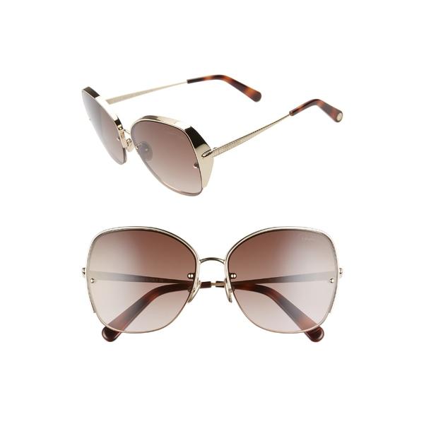 ロベルトカヴァリ レディース サングラス&アイウェア アクセサリー Roberto Cavalli 60mm Sunglasses Gold/ Brown Mirror