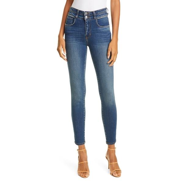 ラジャンス レディース カジュアルパンツ ボトムス L'AGENCE Peyton High Waist Crop Skinny Jeans (Premier) Monterey