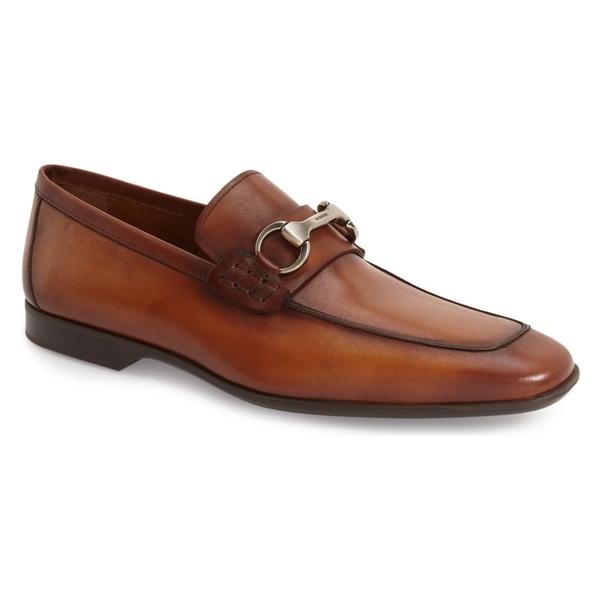 マグナーニ メンズ スリッポン・ローファー シューズ Magnanni Rafa II Apron Toe Bit Loafer (Men) Cognac Leather