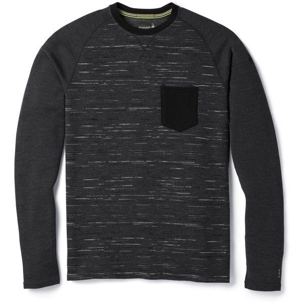 スマートウール メンズ Tシャツ トップス Merino 250 Base Layer Pocket Crew Top - Men's Charcoal/Black
