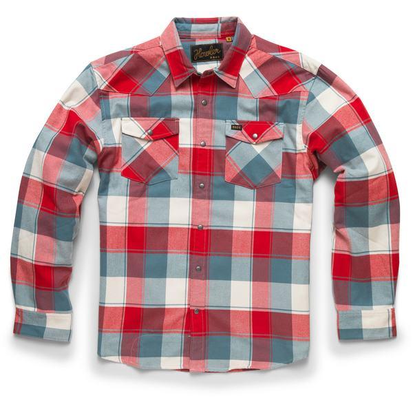 ハウラーブラザーズ メンズ シャツ トップス Stockman Flannel Snapshirt - Men's Brazos Plaid/Rodeo Red