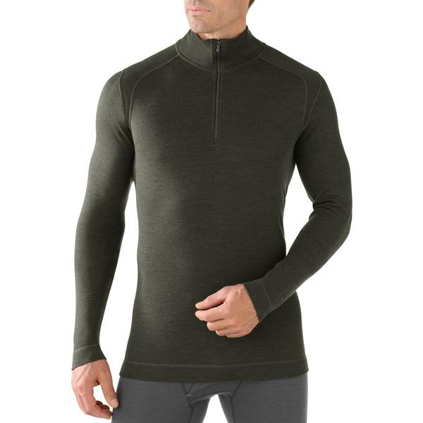 スマートウール メンズ Tシャツ トップス Merino 250 Base Layer Quarter-Zip Top - Men's Olive Heather