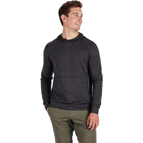 ビュオーリ メンズ シャツ トップス Ponto Performance Pullover - Men's Charcoal Heather
