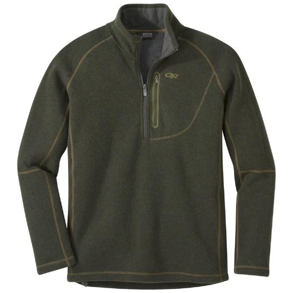 アウトドアリサーチ メンズ ニット&セーター アウター Vashon Fleece Quarter-Zip Top - Men's Juniper