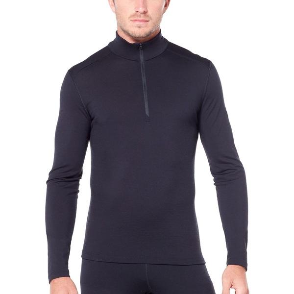アイスブレーカー メンズ Tシャツ トップス 200 Oasis Half-Zip Base Layer Top - Men's Black