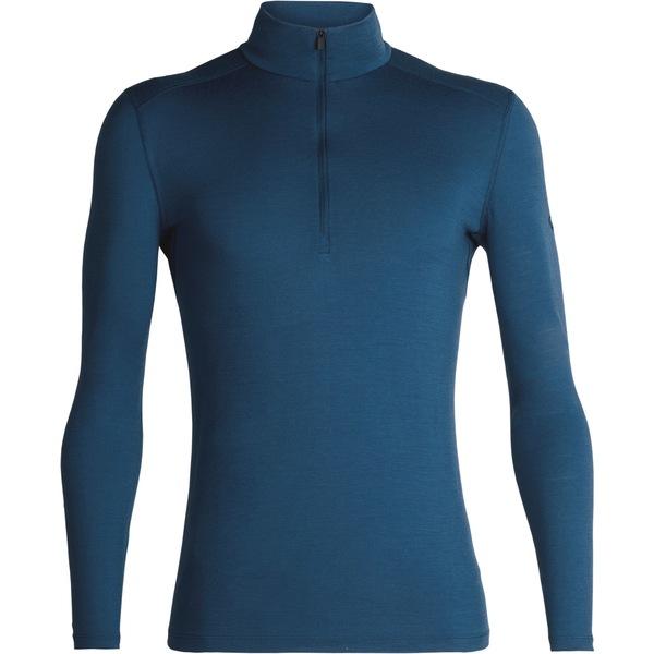 アイスブレーカー メンズ Tシャツ トップス 200 Oasis Half-Zip Base Layer Top - Men's Prussian Blue