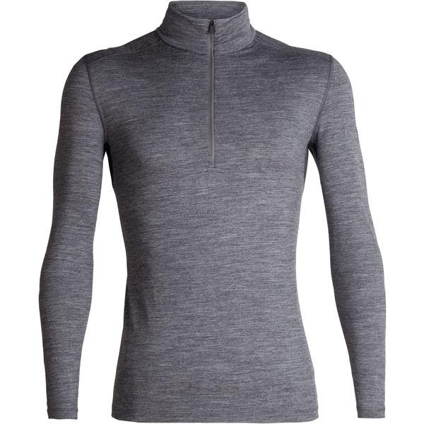 アイスブレーカー メンズ Tシャツ トップス 200 Oasis Half-Zip Base Layer Top - Men's Gritstone Heather
