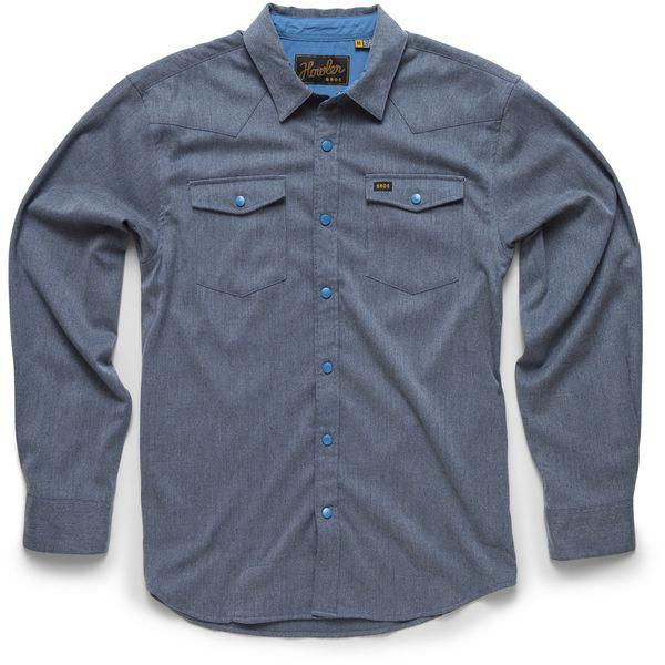 ハウラーブラザーズ メンズ シャツ トップス Stockman Stretch Snapshirt - Men's Yonder Blue