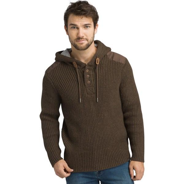 プラーナ メンズ パーカー・スウェットシャツ アウター Hooded Henley Sweater - Men's Scorched Brown