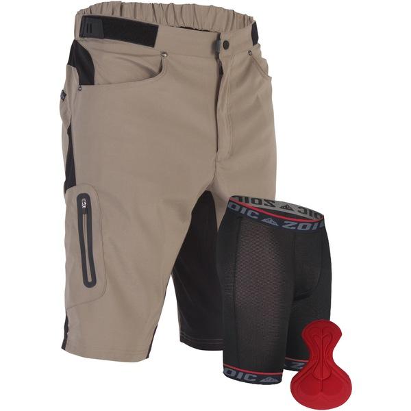 ゾイック メンズ ハーフ&ショーツ ボトムス Ether Bike Shorts and Liner - Men's Tan