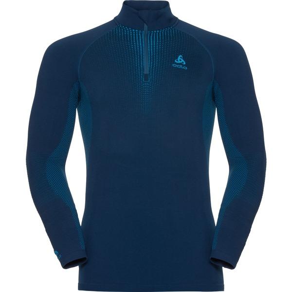 オドロ メンズ Tシャツ トップス Performance Warm Quarter Zip Top - Men's Poseidon