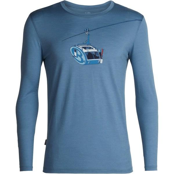 アイスブレーカー メンズ シャツ トップス Tech Lite Crewe Camper Lift Shirt - Men's Granite Blue
