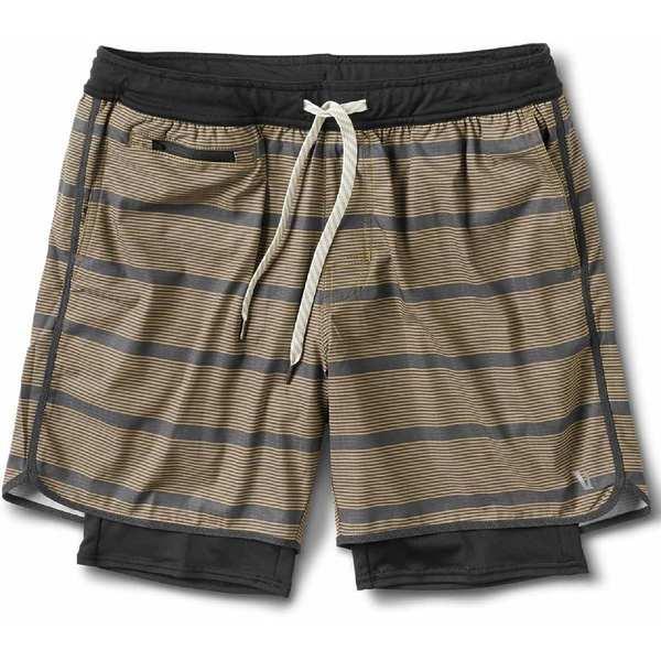 ビュオーリ メンズ ハーフ&ショーツ ボトムス Stockton Shorts - Men's Charcoal Acorn Stripe