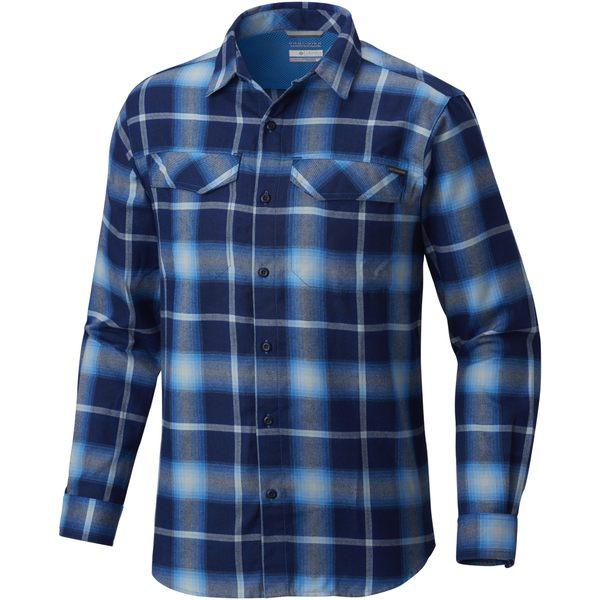 コロンビア メンズ シャツ トップス Silver Ridge Flannel Shirt - Men's Azure Blue Plaid