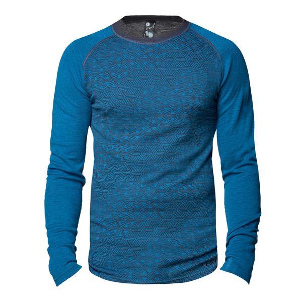ブラ メンズ Tシャツ トップス Geo Merino Base Layer Crew Top - Men's Blue