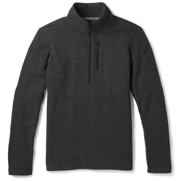 スマートウール メンズ ニット&セーター アウター Hudson Trail Half-Zip Fleece Sweater - Men's Dark Charcoal