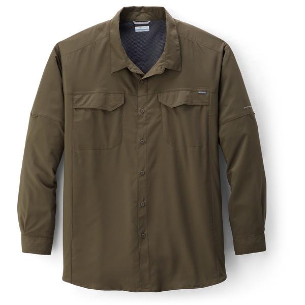 コロンビア メンズ シャツ トップス Silver Ridge Lite Long-Sleeve Shirt - Men's Big Sizes Peatmoss
