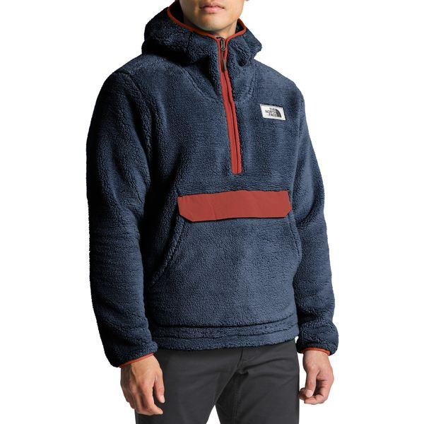 ノースフェイス メンズ パーカー・スウェットシャツ アウター Campshire Pullover Fleece Hoodie - Men's Urban Navy/Caldera Red