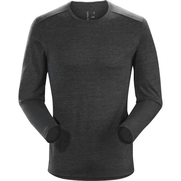 アークテリクス メンズ シャツ トップス A2B Long-Sleeve Shirt - Men's Black Heather
