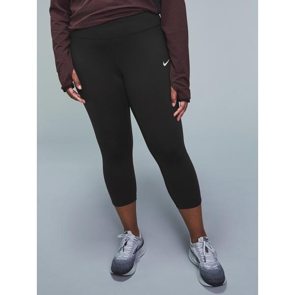 ナイキ レディース レギンス ボトムス Racer Crop Leggings - Women's Plus Sizes Black
