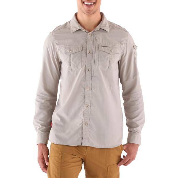 クラッグホッパーズ メンズ シャツ トップス NosiLife Adventure Shirt - Men's Parchment