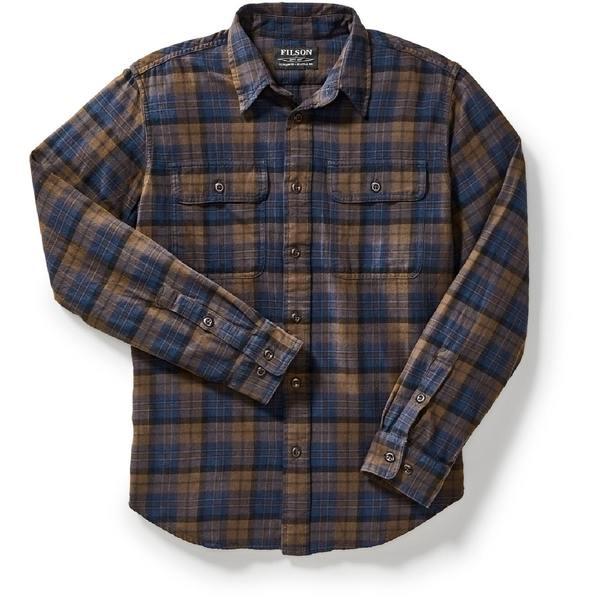 フィルソン メンズ シャツ トップス Scout Shirt - Men's Brown/Navy/Black