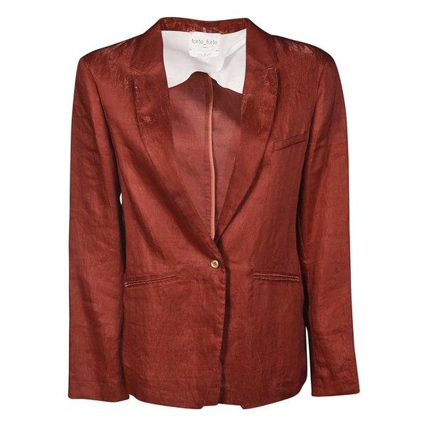 フォルテ フォルテ レディース ジャケット&ブルゾン アウター Forte_Forte Creased Blazer Red