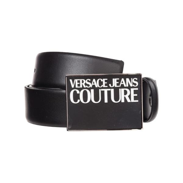 ベルサーチ メンズ ベルト アクセサリー Versace Jeans Couture Genuine Leather Belt Nero