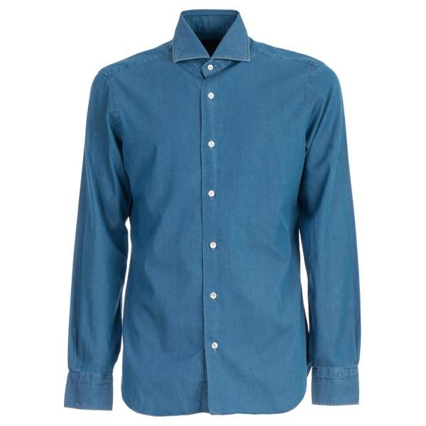 バルバナポリ メンズ シャツ トップス Barba Napoli Shirt Jeans Washed UDenim