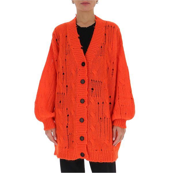 Knitted Cardigan MSGM - エムエスジイエム レディース Distressed Long ニット&セーター アウター