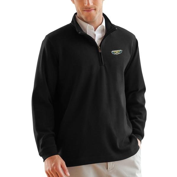 ビンテージアパレル メンズ ジャケット&ブルゾン アウター Morehead State Eagles 1/4Zip Flat Back Pullover Jacket Black