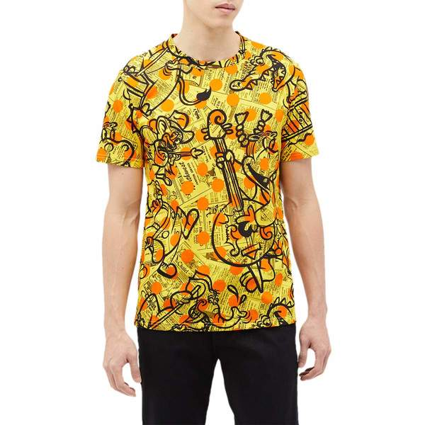モスキーノ メンズ シャツ トップス Yellow Pages Animals Print T-Shirt Fantasy Print Yellow