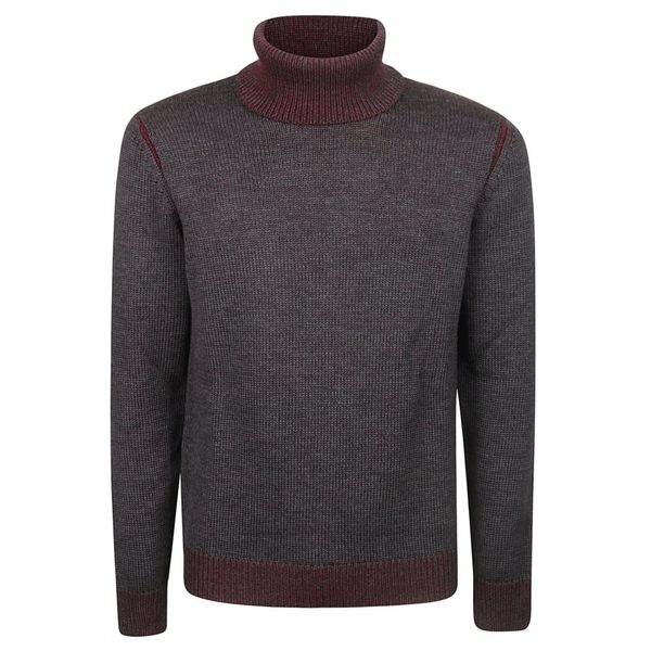 ロベルトコリーナ メンズ ニット&セーター アウター Roberto Collina Turtleneck Sweater GreyBordeaux