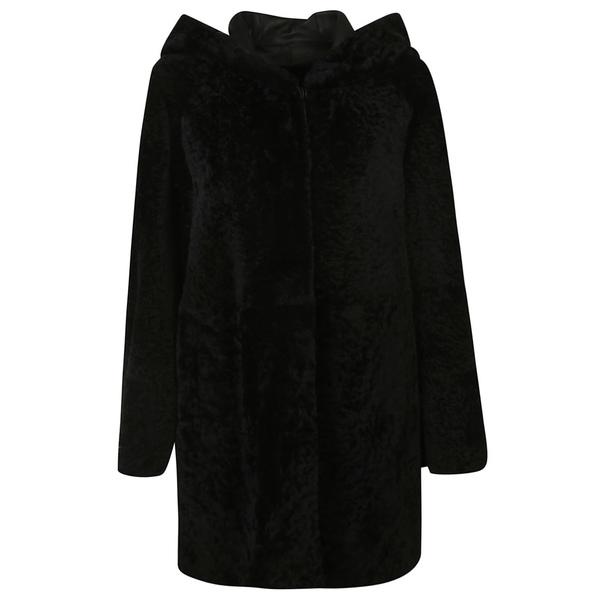 ドローミー レディース ジャケット&ブルゾン アウター DROMe Fur Coat Black
