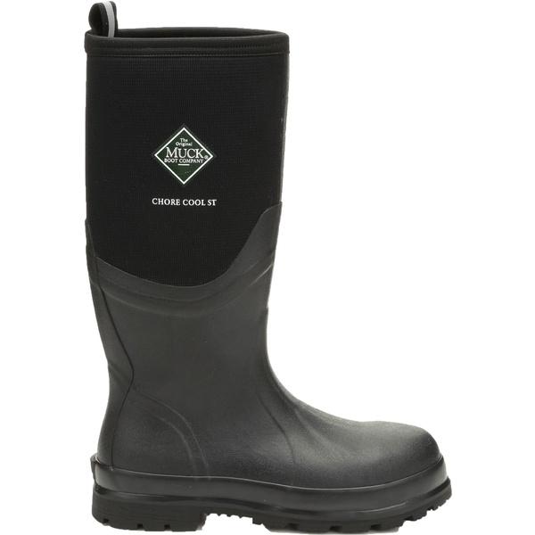 ムックブーツ メンズ ブーツ&レインブーツ シューズ Muck Boots Men's Chore Cool Waterproof Steel Toe Work Boots Black
