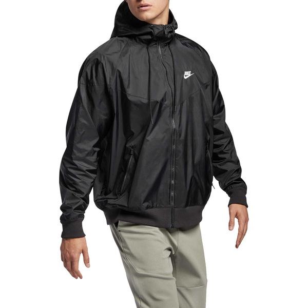 ナイキ メンズ ジャケット&ブルゾン アウター Nike Men's Sportswear 2019 Hooded Windrunner Jacket (Regular and Big & Tall) Black/Black