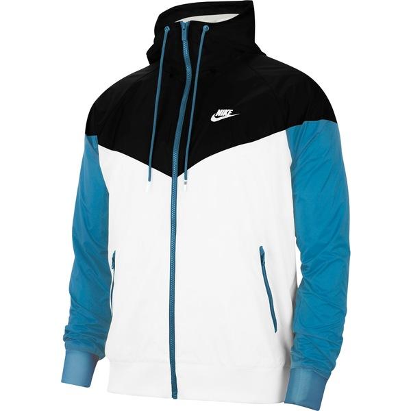 ナイキ メンズ ジャケット&ブルゾン アウター Nike Men's Sportswear 2019 Hooded Windrunner Jacket (Regular and Big & Tall) White/Black