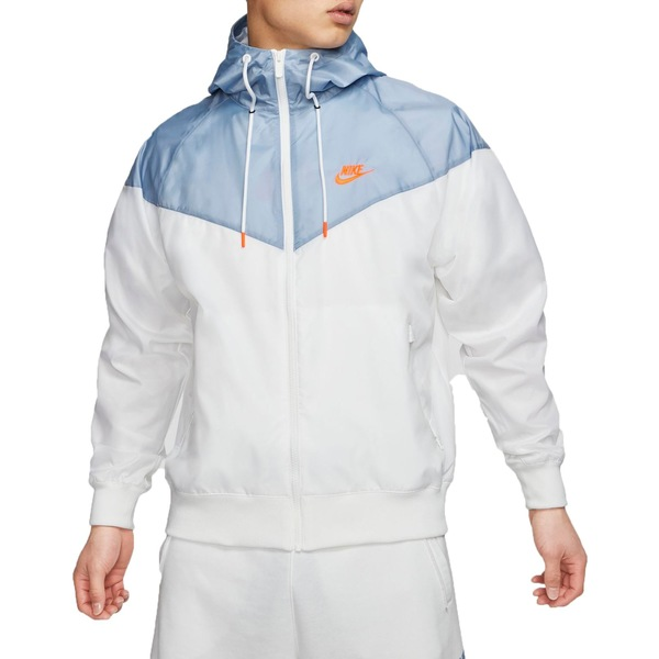 ナイキ メンズ ジャケット&ブルゾン アウター Nike Men's Sportswear 2019 Hooded Windrunner Jacket (Regular and Big & Tall) White/IndigoFog